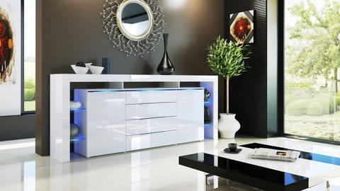 "Sideboard ""Lima Nova V2"" - in White High Gloss / Various Colours"