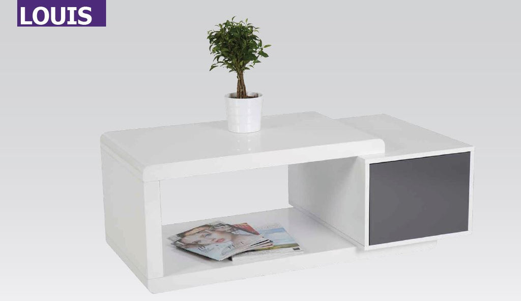 "Coffee Table ""Louis"" in White High Gloss"