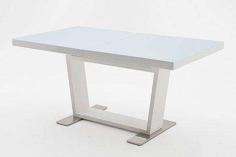 "Dining Table ""Manhatten"" in White High Gloss - Extendable"