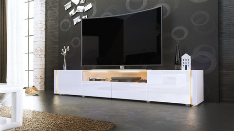TV Stand Marino V2 - White High Gloss / Various Color Fronts