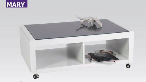 "Coffee Table ""Mary"" in White High Gloss"