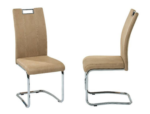 "Dining Chair ""Napoli"" in Beige Softex Fabric"
