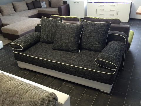 Sofa Bed / Futon Natali in White / Black