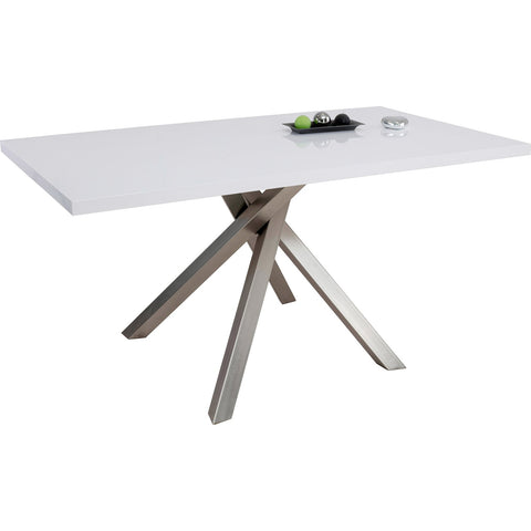 "Dining Table ""Paris"" in White High Gloss"