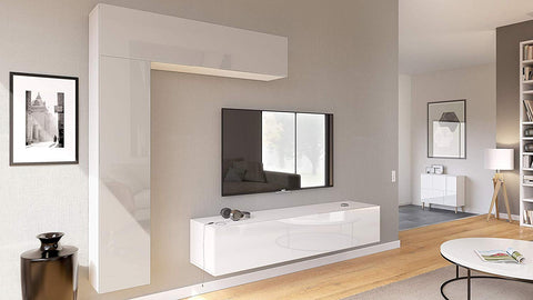 "Open Box - Wall Unit ""Taurito"" in White / Sandgrey HG"