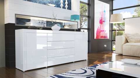 "Sideboard ""La Paz"" in White High Gloss / Various Colors"
