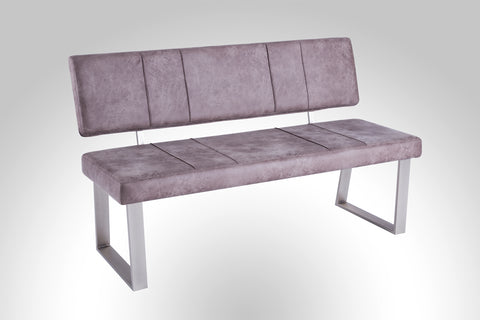 "Dining Bench ""St. Trieste in Grey Fabric"