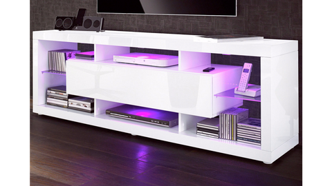 "TV Stand ""Aurora V3"" - White High Gloss"