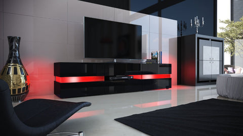 "TV Stand ""Flow"" in Black High Gloss"