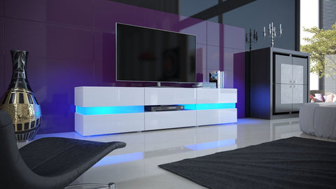 "TV Stand ""Flow"" in White High Gloss"