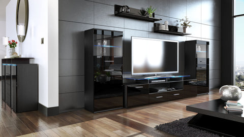"Wall Unit ""Almada V2"" in Black / Various Front Colors"