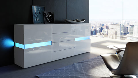 "Sideboard ""Flow"" in White High Gloss"