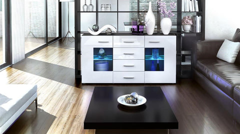 "Sideboard ""Groemitz"" - in Black Matt / Various Colours"