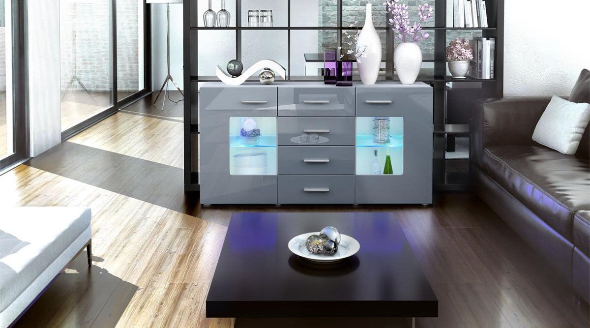 sideboard groemitz in white matt various colours. Black Bedroom Furniture Sets. Home Design Ideas