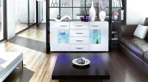 "Sideboard ""Groemitz"" - in White Matt / Various Colours"