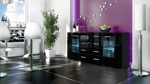 "Sideboard ""Groemitz V2"" - in Black Matt / Various Colours"