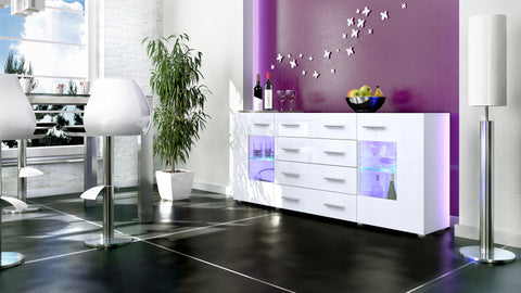 "Sideboard ""Groemitz V2"" - in White Matt / Various Colours"