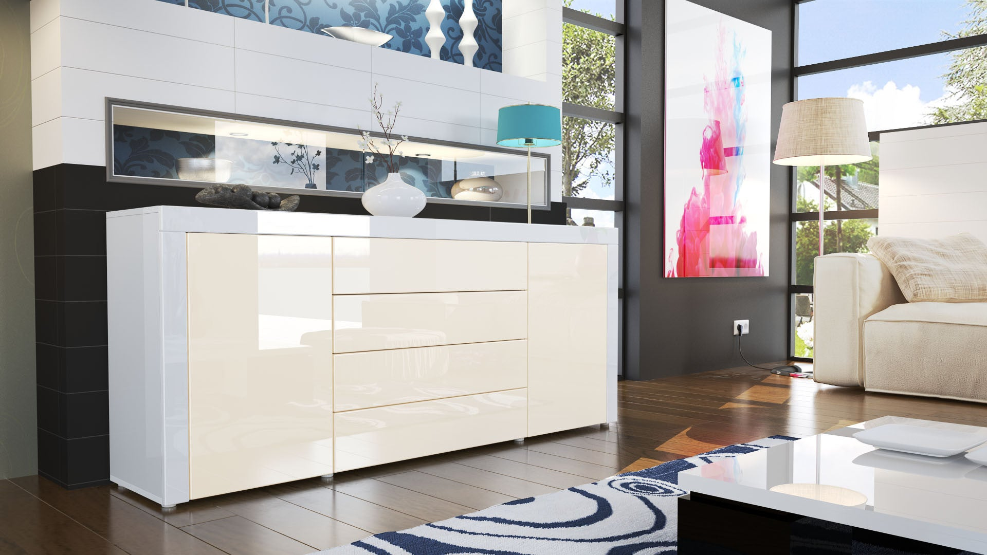 Sideboard Weiss. Good Sideboard Anthrazit Kommode Anrichte Canyon ...