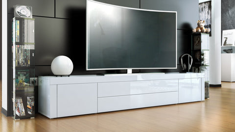 "TV Stand ""La Paz"" in White High Gloss / Various Colors"