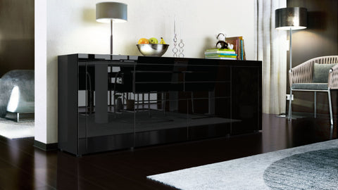 "Sideboard ""La Paz V2 "" in Black High Gloss / Various Colors"