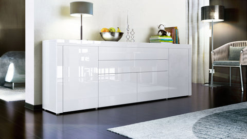 "Open Box - Sideboard ""La Paz V2 "" in White High Gloss"