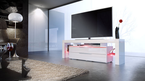 TV Stand Lima Nova - White High Gloss / White High Gloss