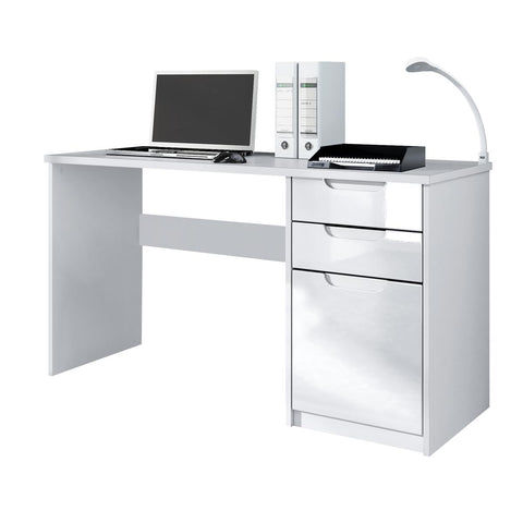 "Office Desk ""Logan"" in White / Different Front Colors"