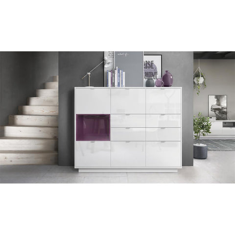 "OPEN BOX - Highboard ""Metro V2"" in White High Gloss"