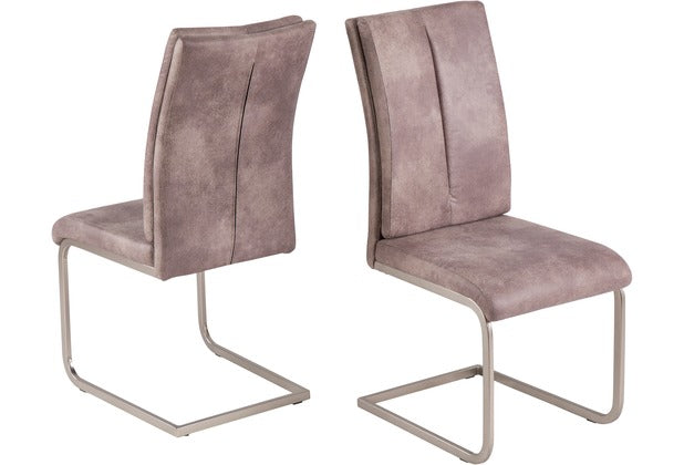 "Dining Chair ""Kampen"" in Grey Fabric"