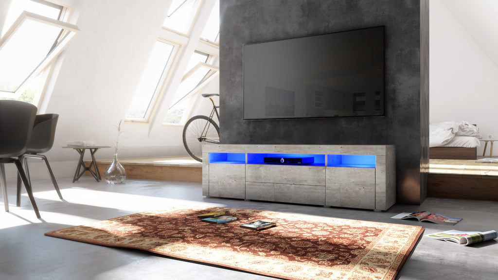 "TV Stand ""Santa Fe"" in Concrete Look"