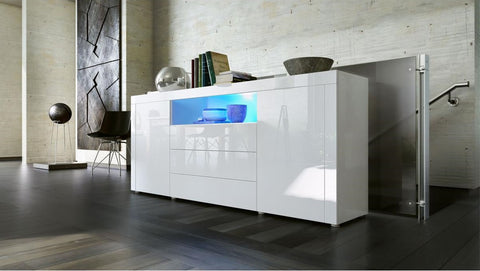 "Sideboard ""Santiago"" - in White High Gloss / Various Colours"