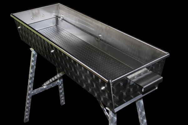 Custom Charcoal Grill In Stainless Steel 80 X 30