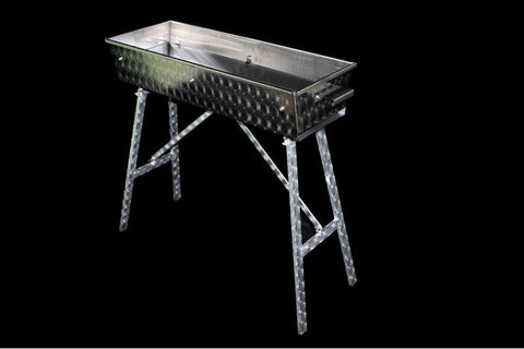 Custom Charcoal Grill in Stainless Steel (100 x 30)