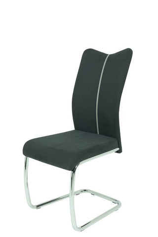 "Dining Chair ""Mira"" in Black PU Leahter"