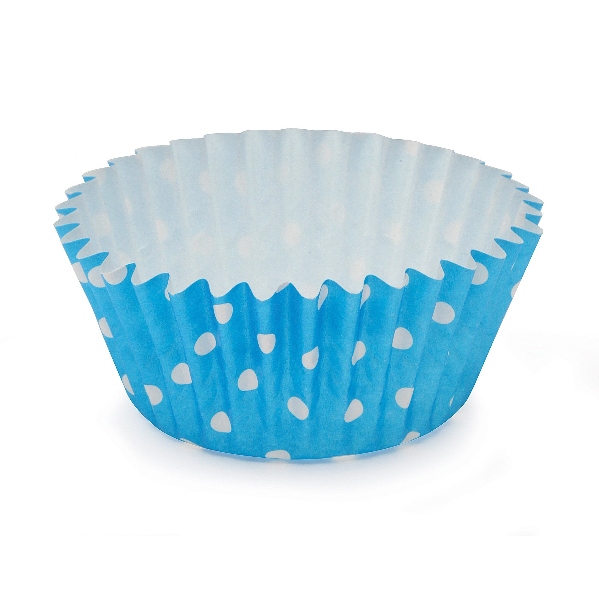 Cupcake Cups, Polka Dot Blue - Paper Bake Shop