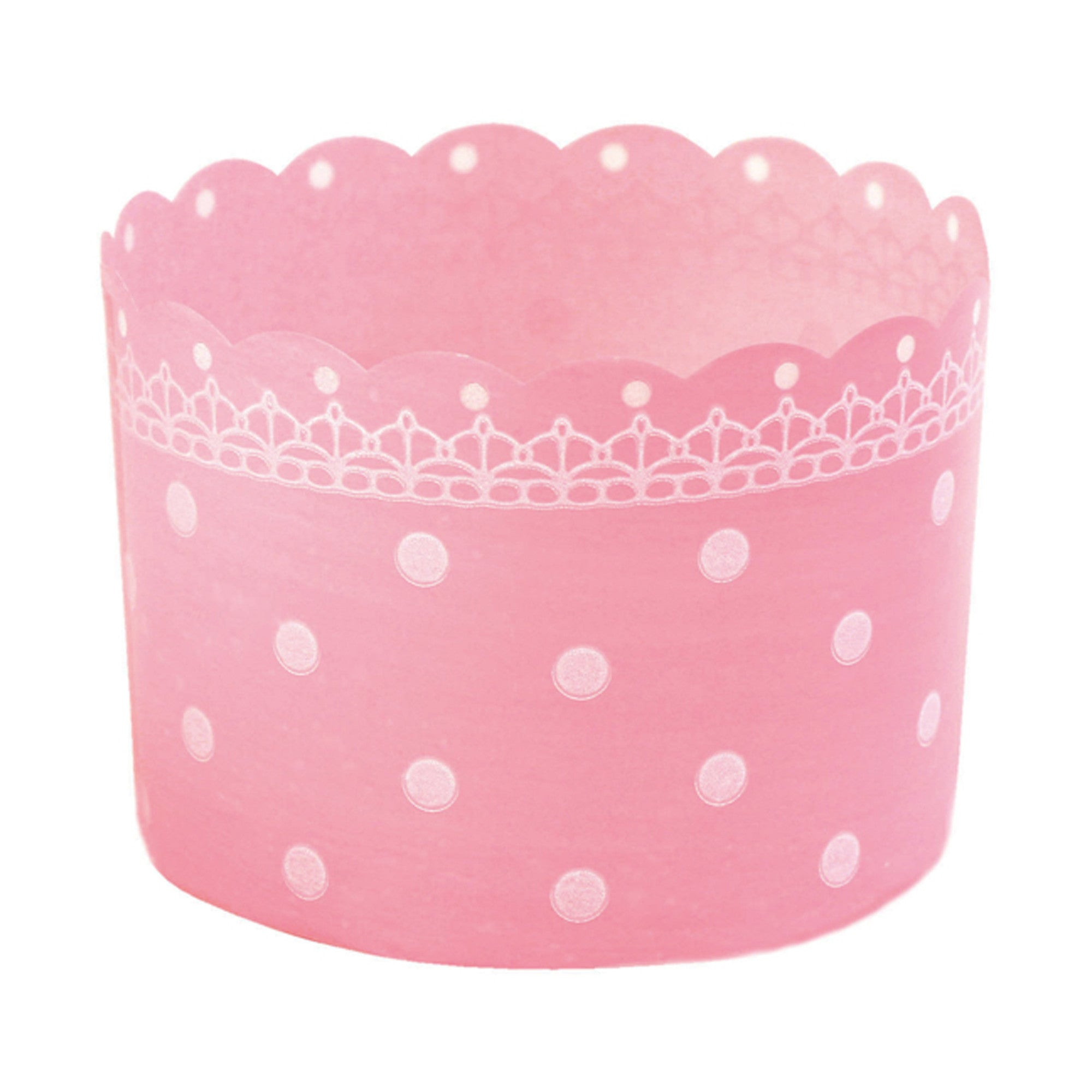 Plastic Baking Cups, Polka Dot Pink - Welcome Home Brands