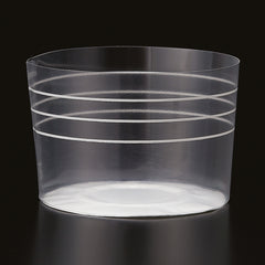 Plastic Baking Cups, Clear Stripe (Lg.) - Paper Bake Shop