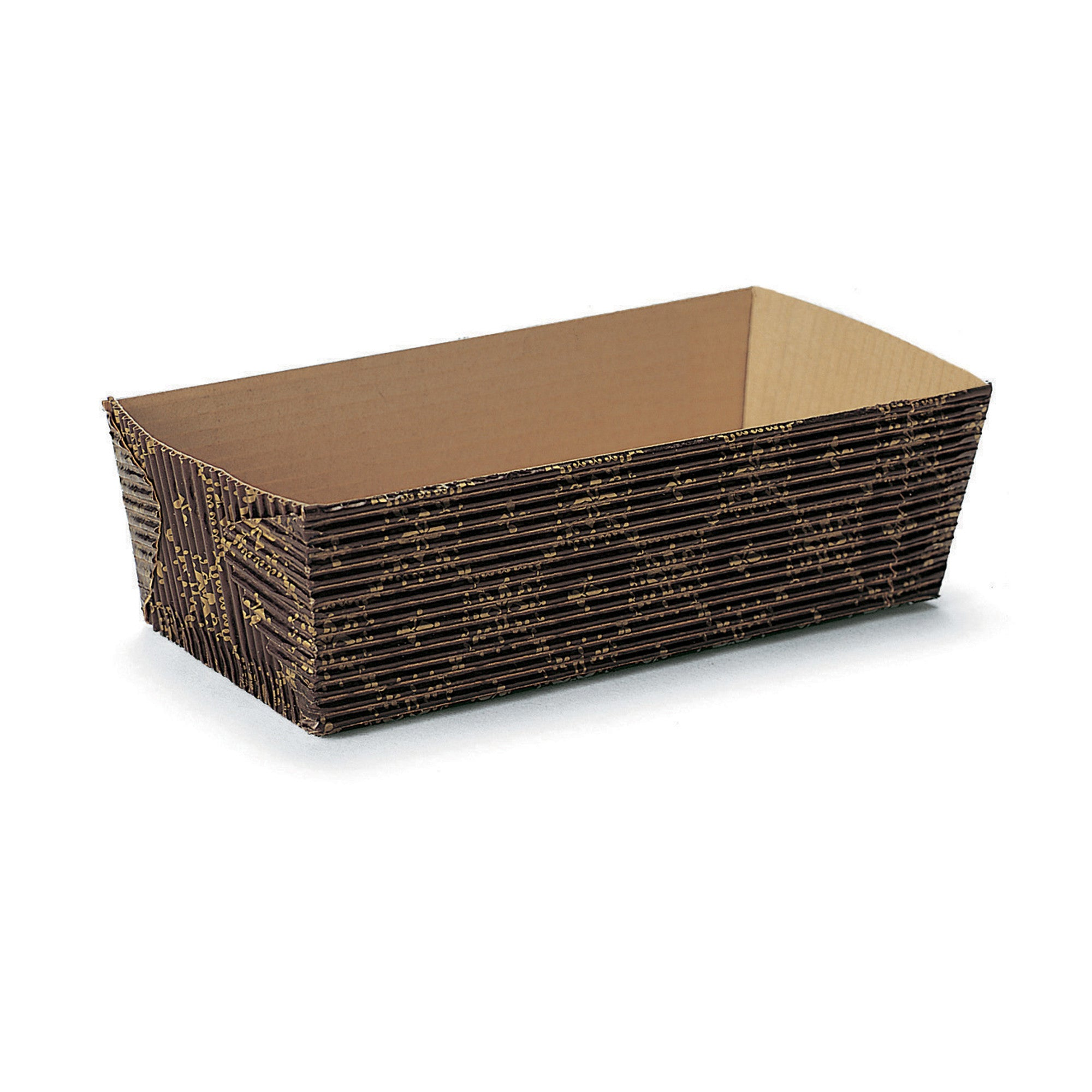 Rectangular Loaf Baking Pans, Black Crest - Paper Bake Shop