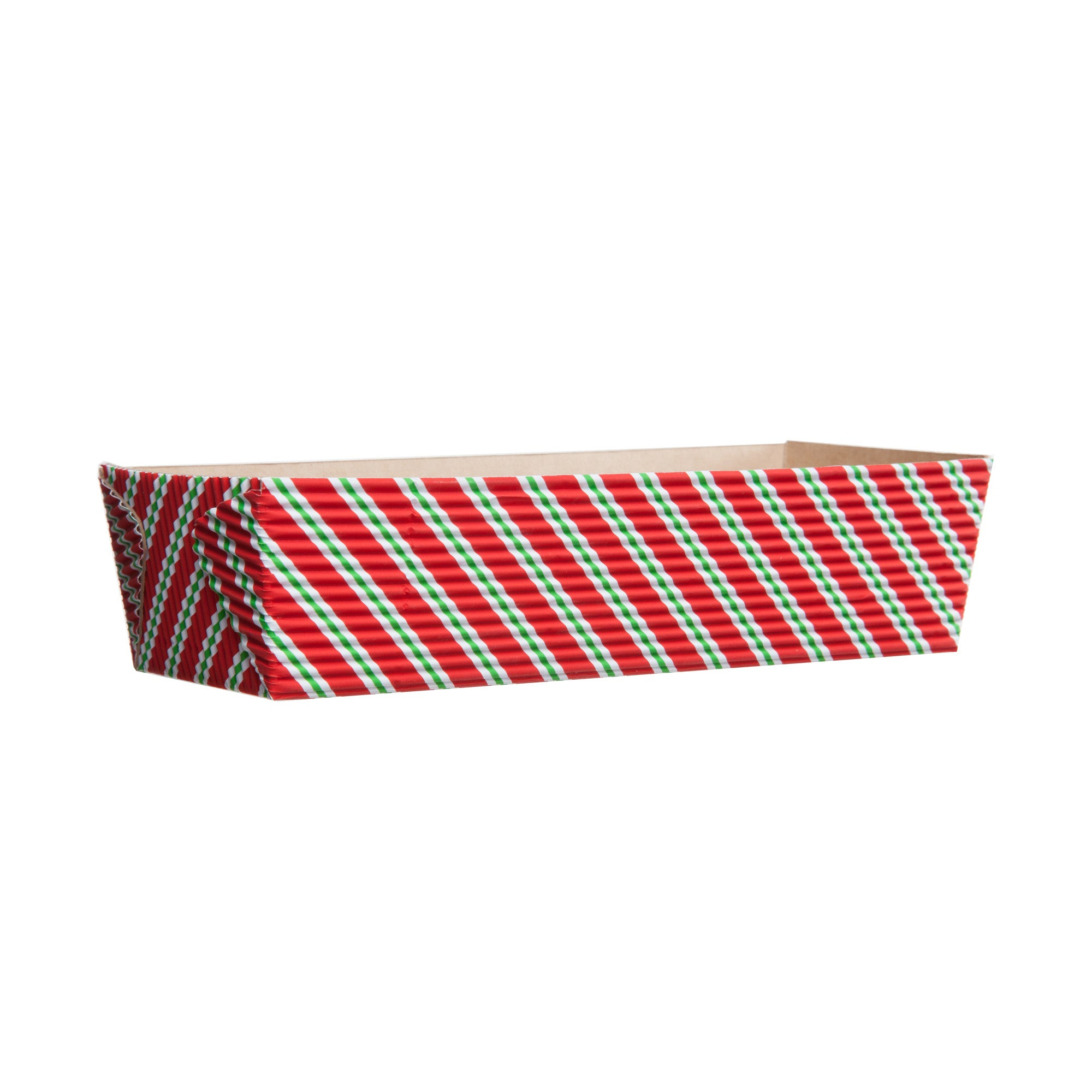 Rectangular Loaf Baking Pans, Diagonal Stripe - Paper Bake Shop