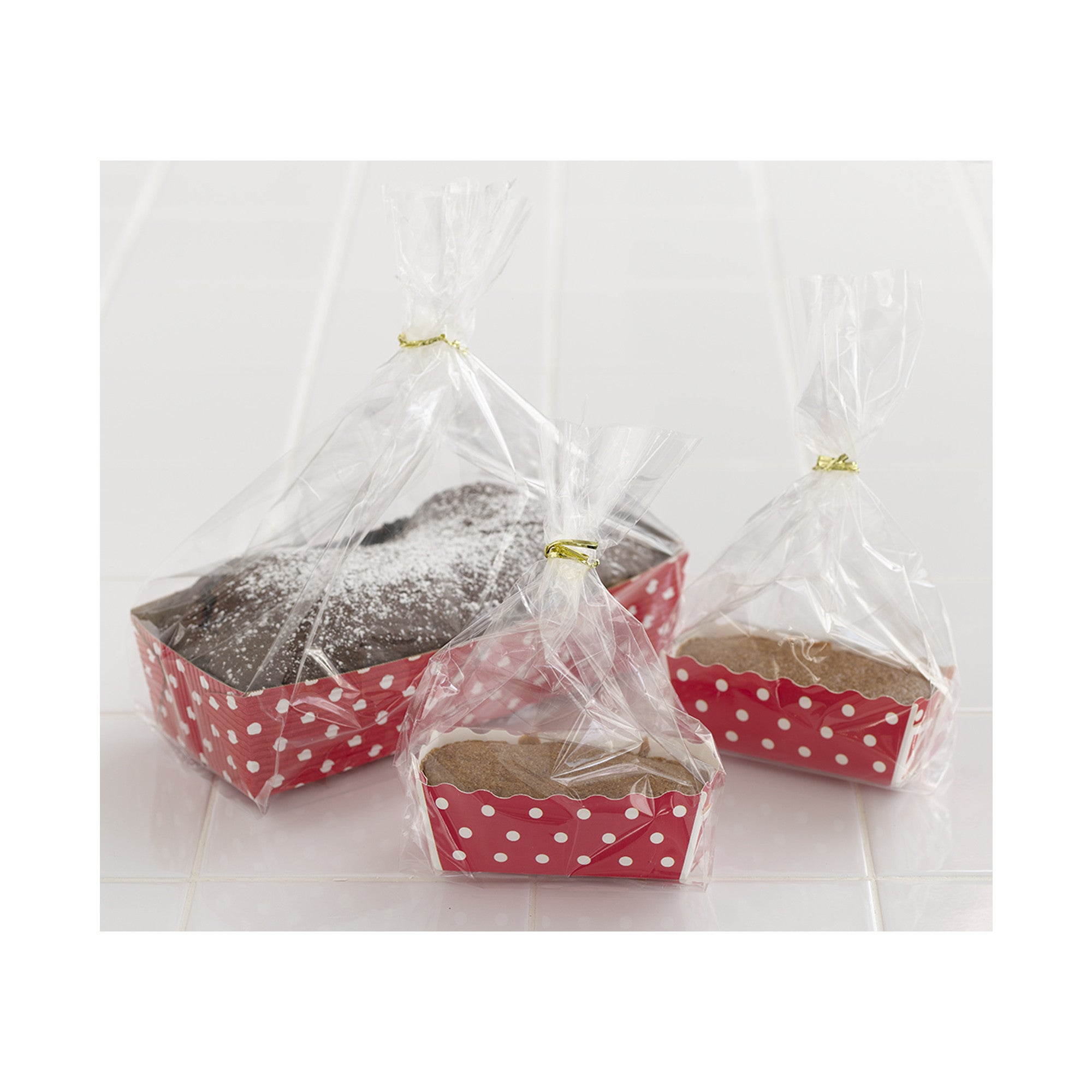 "Bags + Twist Ties, Gift Bags for 4"" Ruffled Cup - Paper Bake Shop"