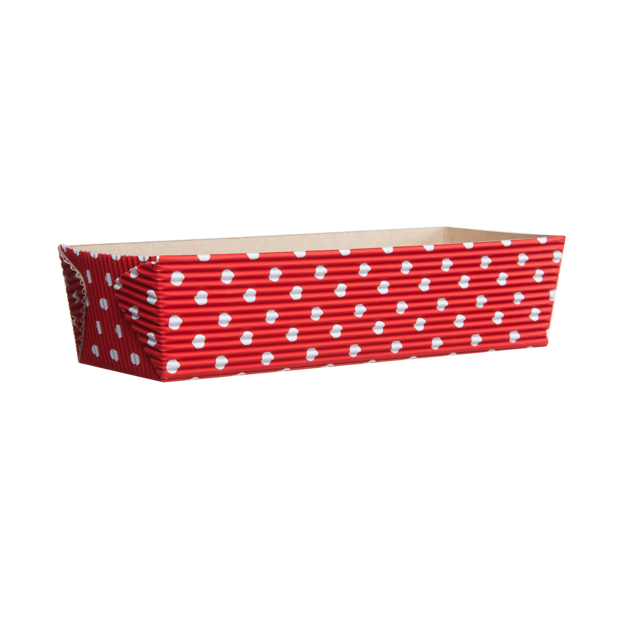 Rectangular Loaf Baking Pans, Red Dot - Paper Bake Shop