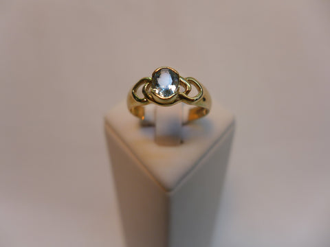 9Ct Gold Aquamarine Dress Ring