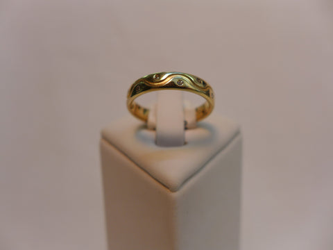 9Ct Gold & Diamond Design Ring