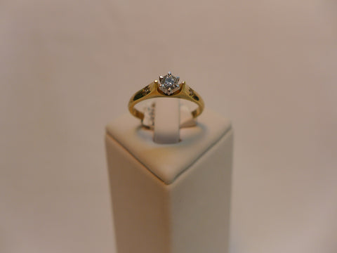 9Ct Solitaire Brilliant Cut Diamond Ring