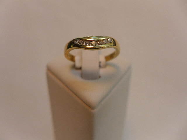9Ct Gold Shaped Channel Set Diamond Ring