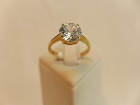 9Ct Brilliant Cut Solitaire CZ Ring
