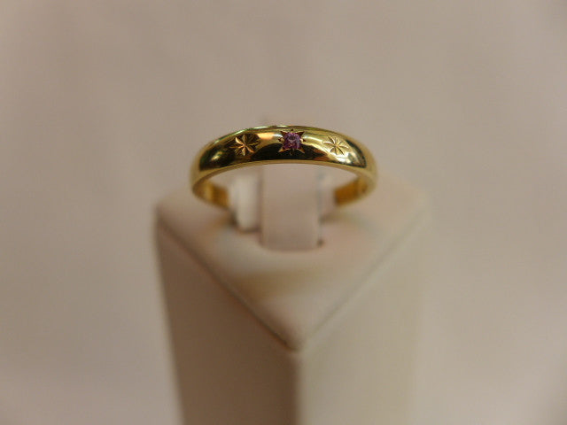 9Ct Gold Garnet Friendship Ring