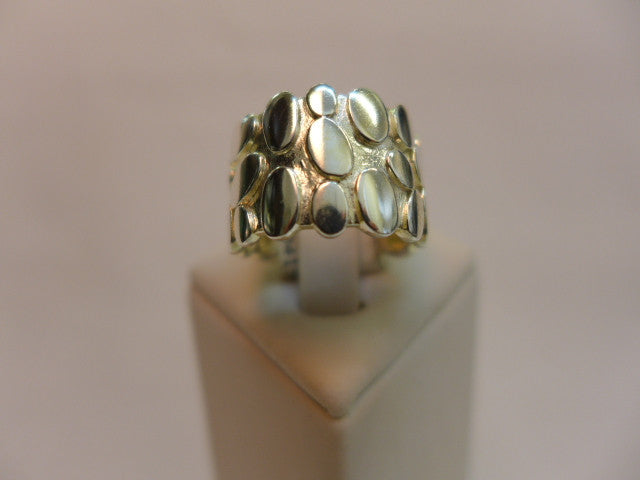 Stg Silver Chunky Patterned Ring