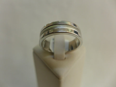 Men's Sterling Silver Faceted Ring