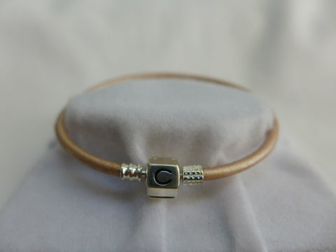 Chamilia Gold Leather Snap Bracelet